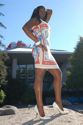 Female model photo shoot of BLACKDIAMOND AKA FOXY by LockedPhotography in KEY ARENA. SEATTLE CENTER