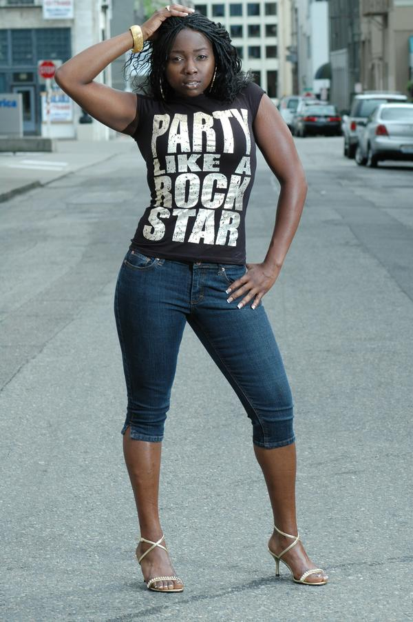 Female model photo shoot of BLACKDIAMOND AKA FOXY by Micheal Miller in TACOMA , WA