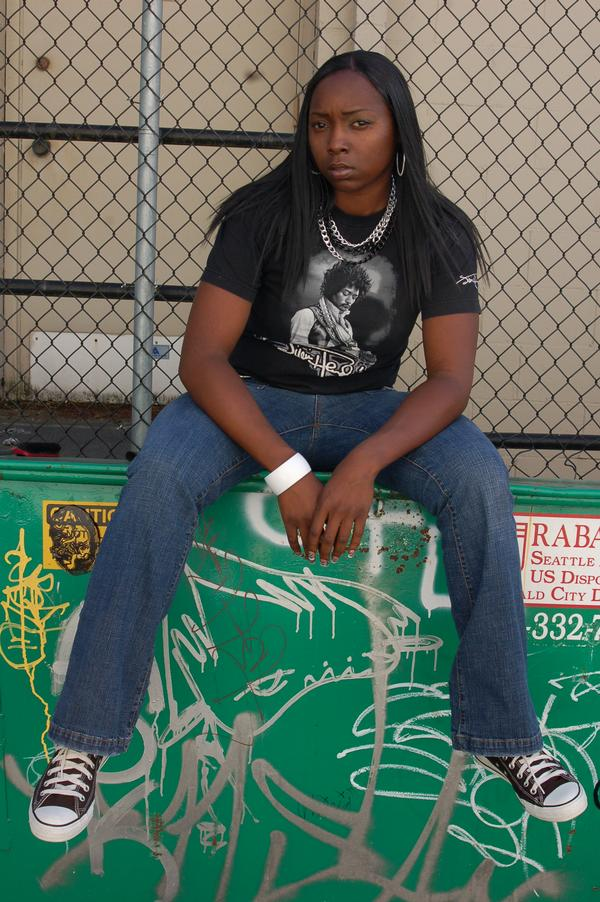 Female model photo shoot of BLACKDIAMOND AKA FOXY by LockedPhotography in SEATTLE WASHINGTON