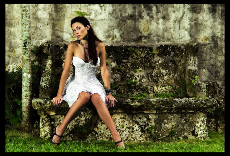 Female model photo shoot of Julita by iNFOCUSDESIGNS in Secret garden, Miami
