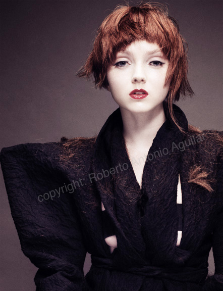 London, England Nov 02, 2007 Roberto Aguilar Lily Cole wearing Vivienne Westwood vintage