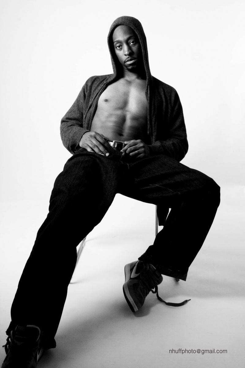 Male model photo shoot of Ahmed Lewis in STUDIO