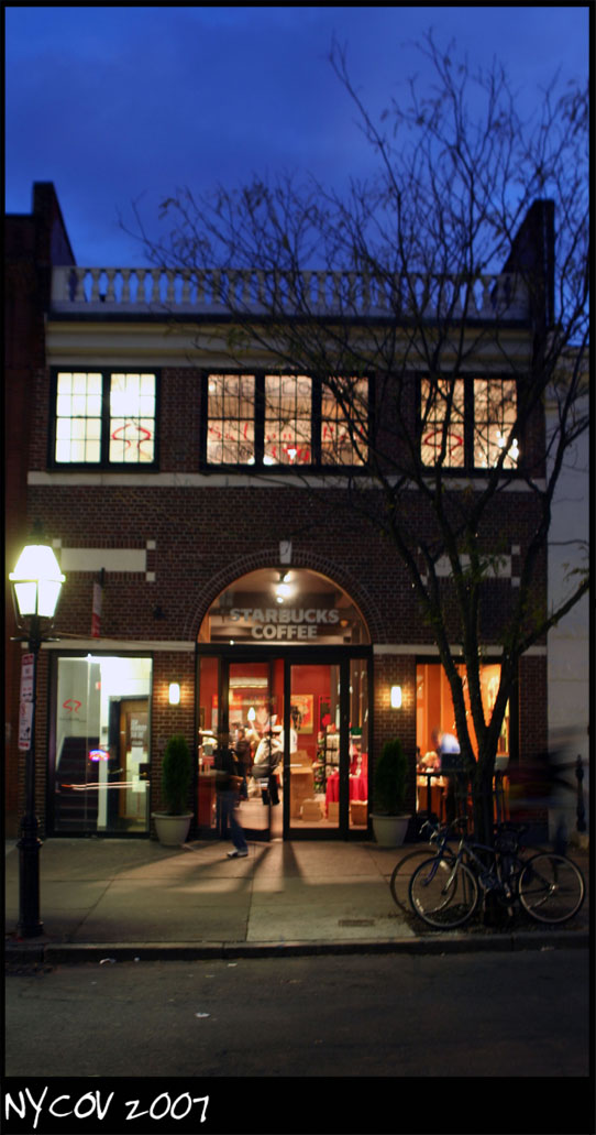 Downtown Boston Nov 08, 2007 ©NYCOV 2007 Dusk + Starbucks + Downtown