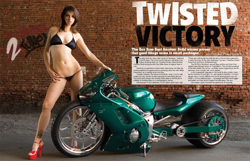 Philadelphia Nov 15, 2007 Advanstar Publications co Jeffrey Baxter 2007 2 Wheel Tuner Magazine (December 2007) Model: Alaina Wray
