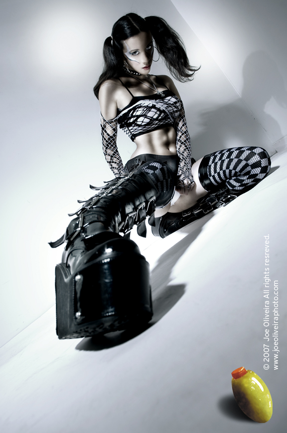 Nov 17, 2007 joe oliveira. mua leica,  clothing styling by me. skirt by lip service kerri taylor gothstocking stretch