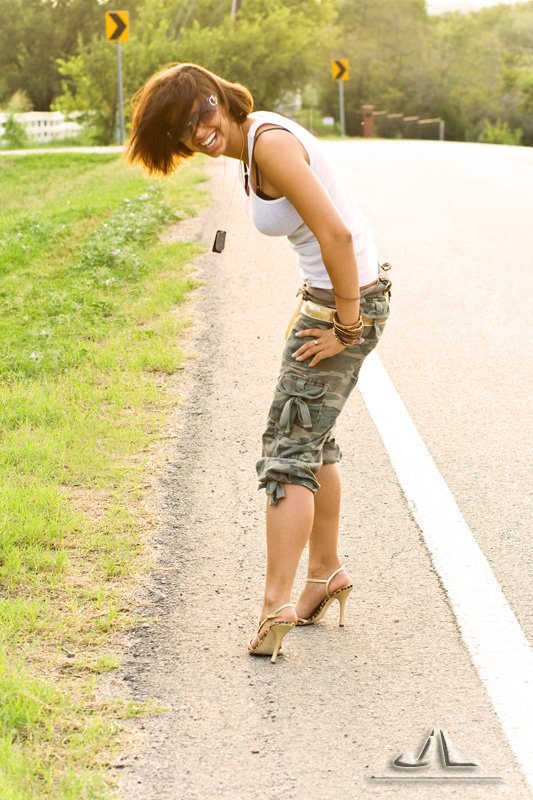 on a random road in Dallas, TX Nov 22, 2007 Jose Luis who doesnt wear camis and heels?