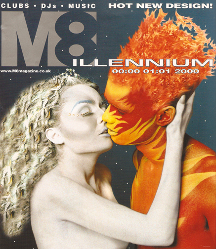 UK Nov 23, 2007 photo Rose M8 Magazine - Body painting / airbrushing & hair