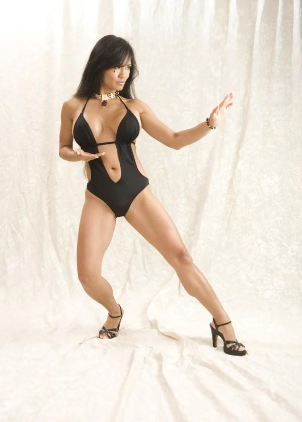 Female model photo shoot of Malia De Leon in ADJ Studios