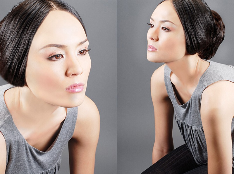 Female model photo shoot of Thy Dinh Makeup Artist in San Jose