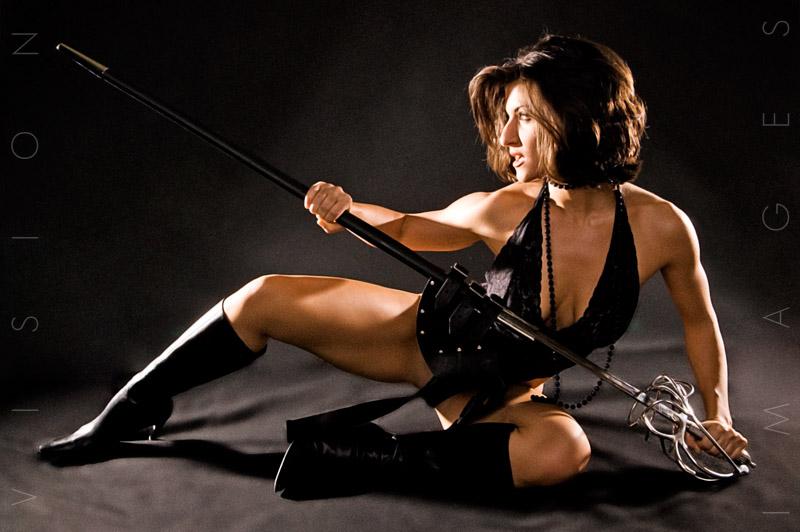 Nashville, TN Dec 03, 2007 ©2007 Vision Images Roxy Daniels - Warrior, tensed.