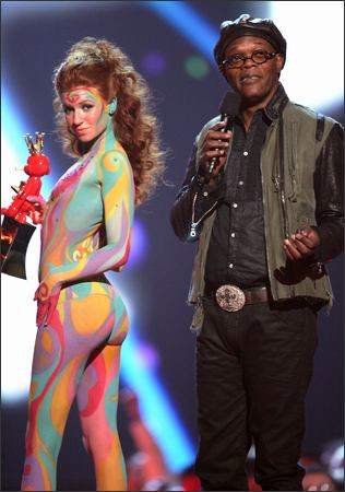 Las Vegas / Body Paint by Pashur / Body Paint Assistants were Paul Roustan and Robin Barcus Dec 10, 2007 VGA Awards with Samuel Jackson