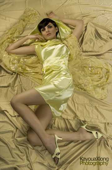 Schaumburg, IL Dec 10, 2007 Kayoua Xiong Photography Mellow in Yellow, dress designed and styled by me