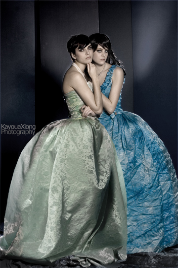 Dec 10, 2007 Kayoua Xiong Photography Magdalena and Danielle, gowns designed and styled by me