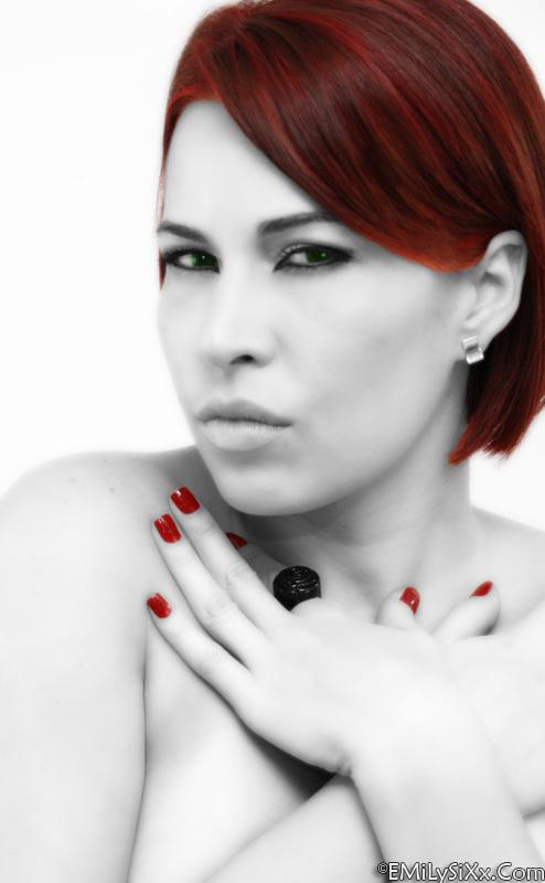Female model photo shoot of Photos by Emily Sixx