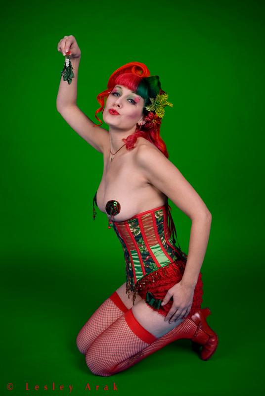FNS Studios Dec 19, 2007 Lesley Arak under the mistletoe (Miss BettySioux)