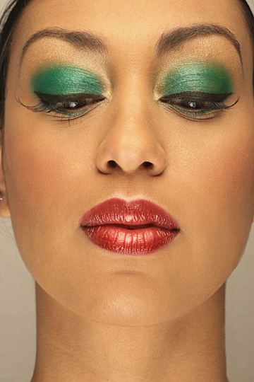 Female model photo shoot of Ladie Jae by Fred Ramirez - AGPhoto, makeup by Andrea Dubuc ODonnell