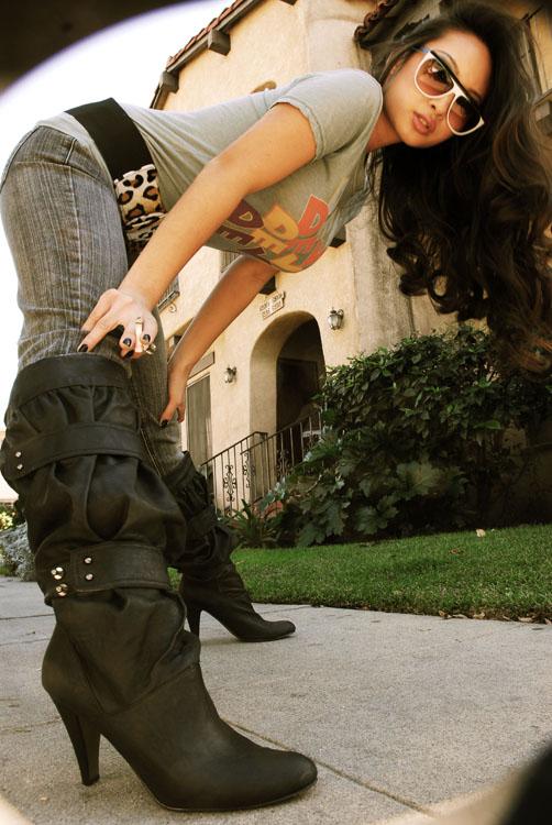 West Hollywood Dec 20, 2007 Photography-Cherie Carlson, make-up-Stephanie Kilburn Boot leggin
