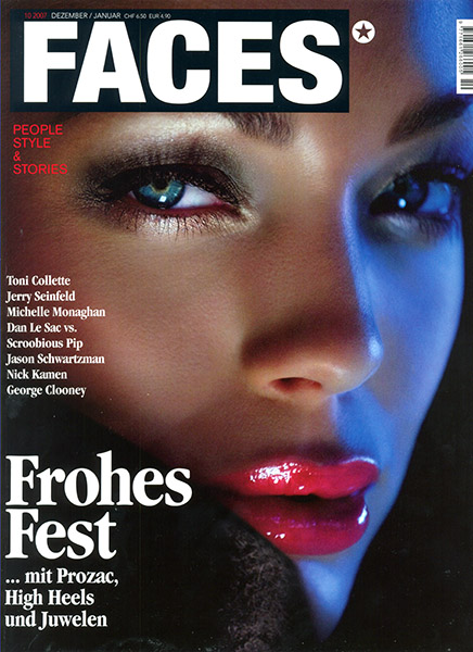Dec 27, 2007 (c) Iconogenic FACES cover (Swiss magazine, Dec 07) with model and actress Dorien Rose