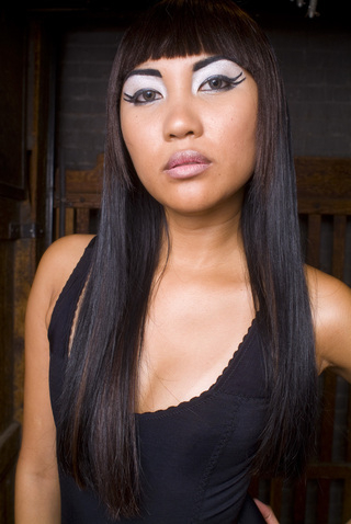 Female model photo shoot of Genre Inc and s h a i by Pete Soos in Toronto Studio, hair styled by Gen Inc