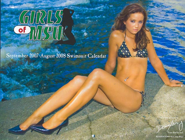 Lansing, MI Jan 13, 2008 2007 Girls of MSU Calendar Cover