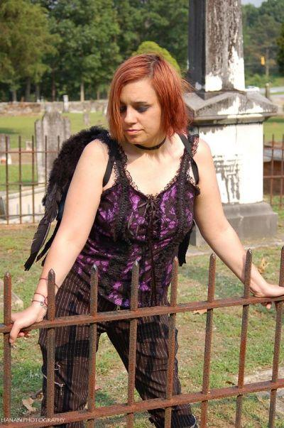 Female model photo shoot of nicci vicious in old stone church clemson,sc