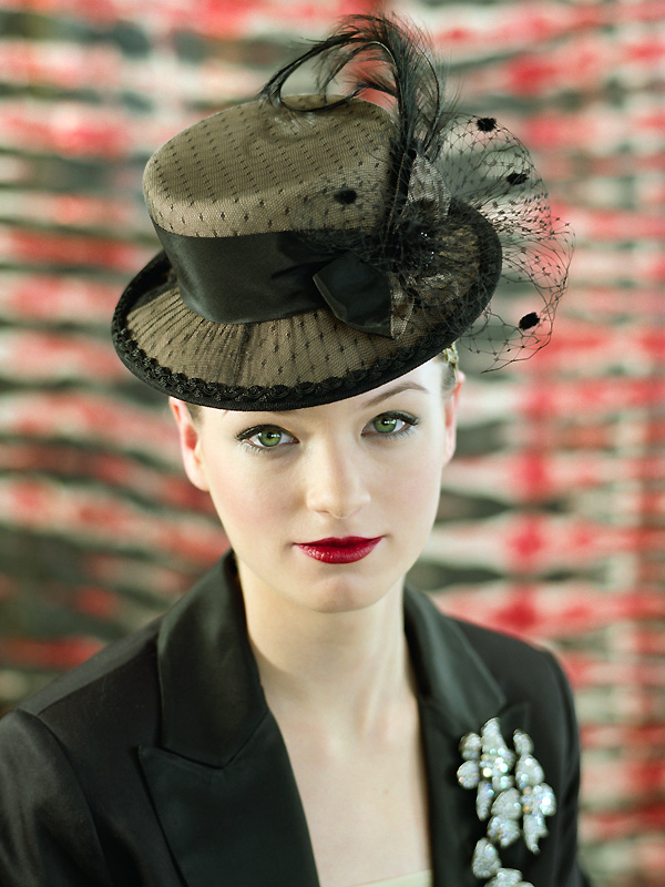 In studio, Chicago Jan 24, 2008 sandra mesrine hat by Laura Hubka