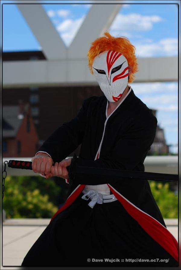 Baltimore, MD Jan 25, 2008 RefractorProductions Myself cosplaying as Ichigo from Bleach. Cosplay made by me. Photo taken by Dave from RefractorProductions.com