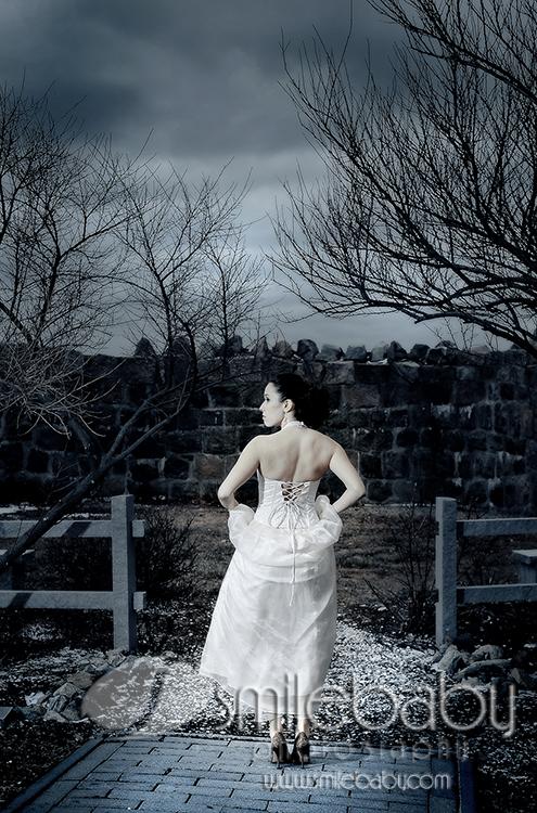 Mystic, CT Jan 30, 2008 Mellissa DeMille Bride in Winter
