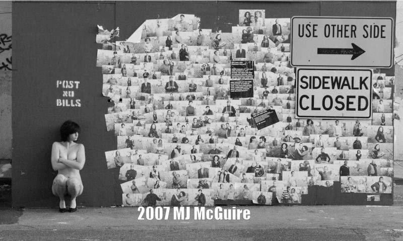 NYC Feb 02, 2008 2007 MJ McGuire Post No Bills (Kylie)