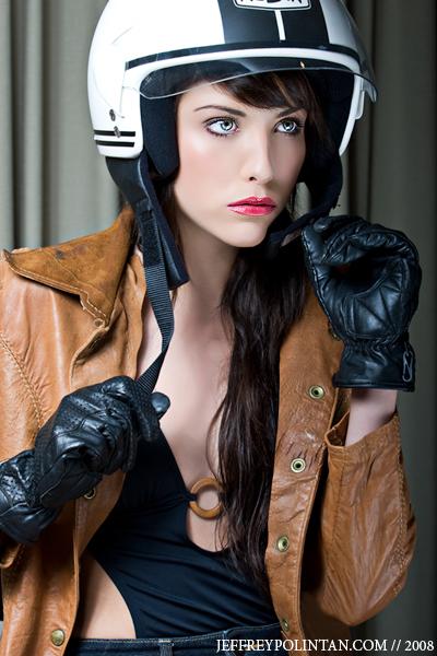 Feb 03, 2008 biker chick. jess davis photographer Jeffrey Polintan