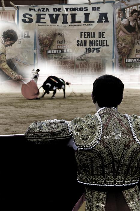 Sevilla Bullring - Spain Feb 04, 2008 Studio Blanco Oxford Editorial Spanish Fiesta Brava