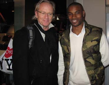 New York Feb 08, 2008 After a long day shooting at Fashion Week, a friend captured this photo  Ralph Lauren SuperModel Tyson Beckford and I having a Chat.. I love New York. So will you.