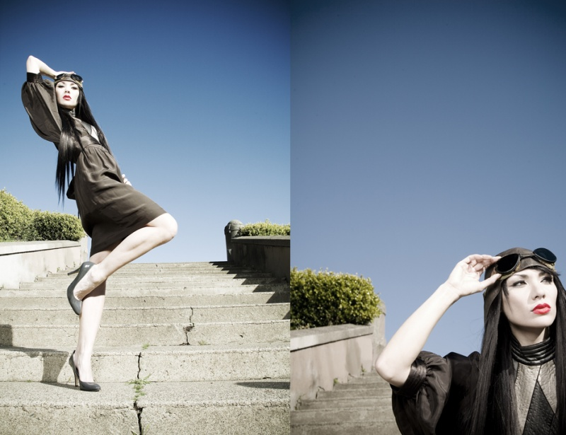 Female model photo shoot of Tara C and T1209 in San Francisco, CA, makeup by maria nguyen