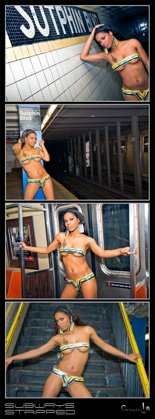 F train subway station, Queens NY Feb 08, 2008 Category_6 Images Metrocard Bikini