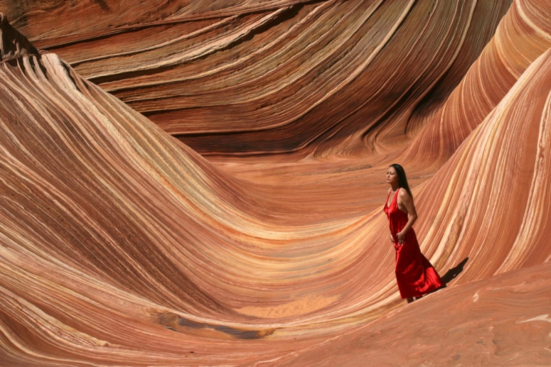 The Wave, Coyote Buttes, Arizona Feb 08, 2008 Lynn Henkel Photography DarkAsia at the Wave