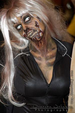 Atlanta, Georgia Feb 09, 2008 Special FX zombie Makeup for DragonCon Atlanta, GA