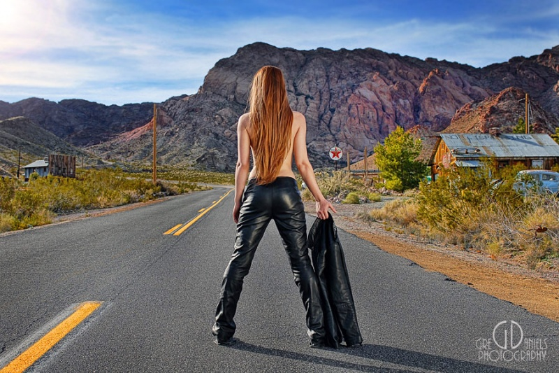 Male and Female model photo shoot of Greg Daniels and Brittany V in Nevada Highway