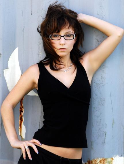 Female model photo shoot of Nikki_V in Rusty Trailer