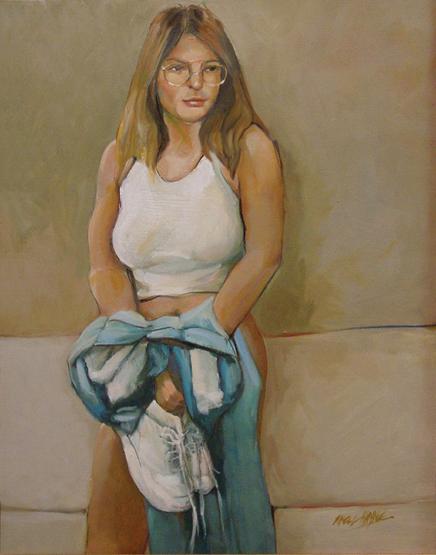 Feb 18, 2008 mh Gretchen - oil on canvas