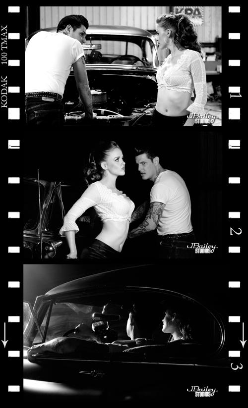 San Angelo, TX Feb 19, 2008 j. bailey studios Dean and LadygirlJeska ~ 50s series