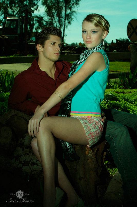 Male and Female model photo shoot of Joshua T and Summer D in Vista, CA