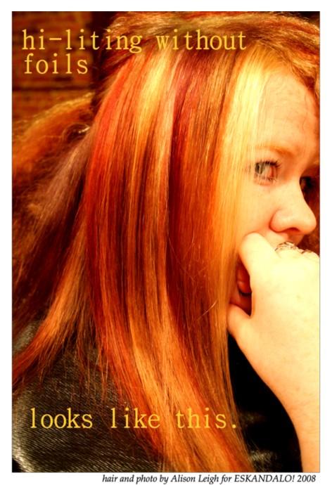 Female model photo shoot of Alison Eskandalo Hair in Eskandalo!