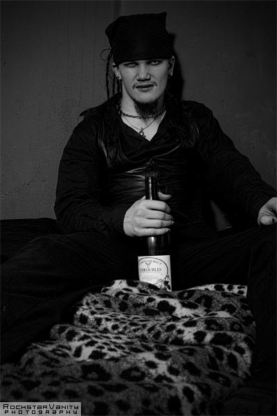 Edinburgh (Secret Location) Mar 12, 2008 Rockstar Vanity Photography Fake Dreads in black in white