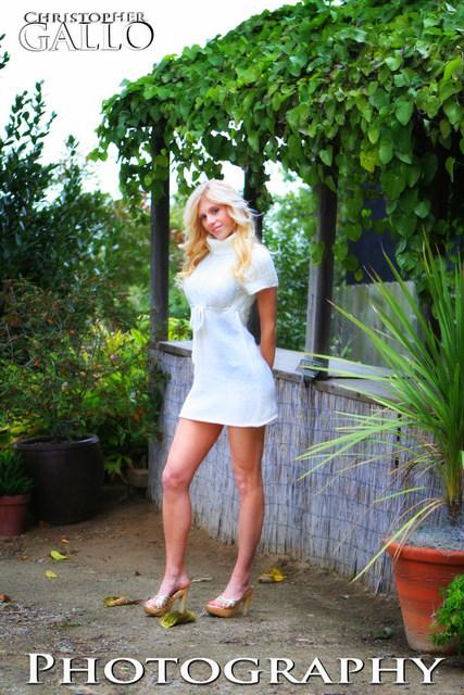 Female model photo shoot of AnJill by cgallo in Quail Botanical Gardens