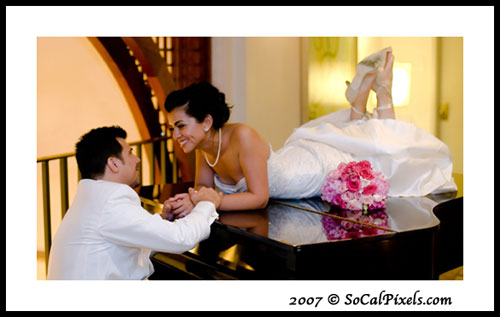 Pasadena Mar 21, 2008 So Cal Pixels Romantic Wedding Photo created during a low in the Reception