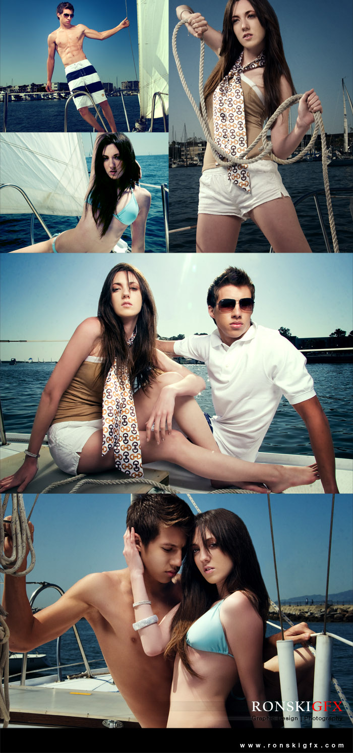 Male and Female model photo shoot of RON RonskiGFX CRUZ, Amber Martinez and Kelley Gallagher in marina del ray