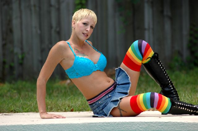 Female model photo shoot of Wannaberavin by HEF Photography in Pool House