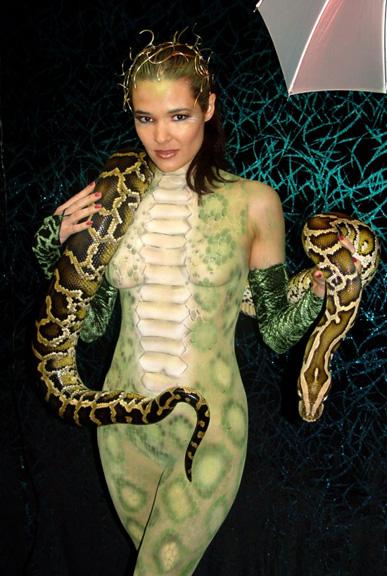 Male model photo shoot of BodyPainter Rich in The Snake Den