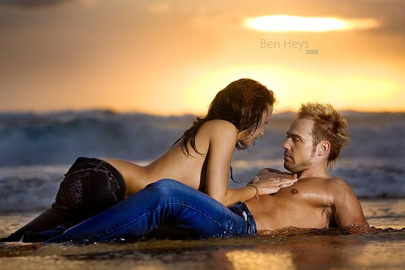 Male and Female model photo shoot of Bart Verschuuren and DeeDwyer by Ben Heys in Byron Bay