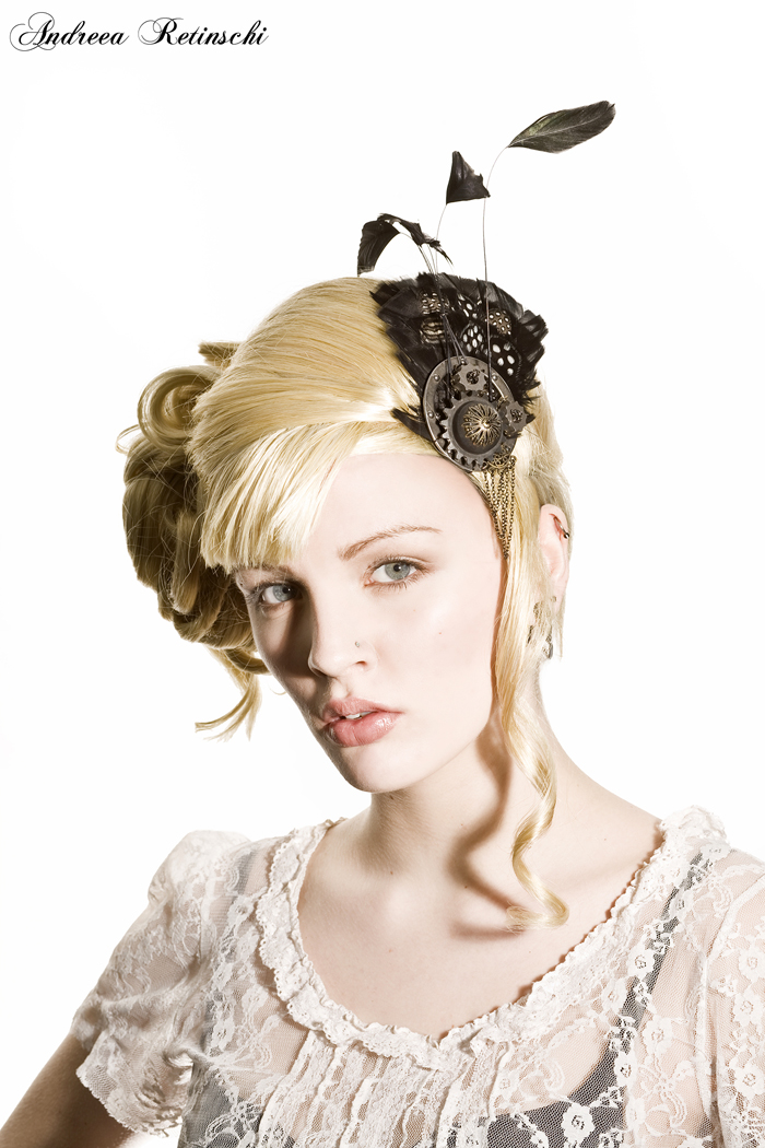 Toronto (studio) Apr 01, 2008 Andreea Retinschi, photographer Wig styling, hair accessory.